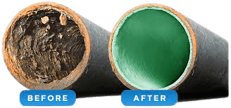 pipe relining liner before and after